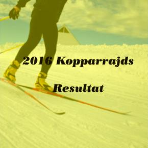 2016 Kopparrajds Resultat