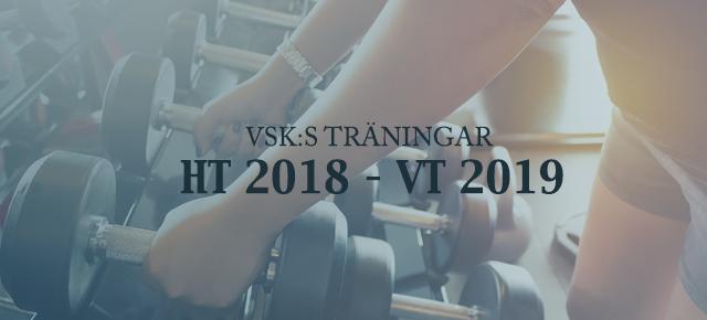 VSK:S TRÄNINGAR HT 2018 – VT 2019
