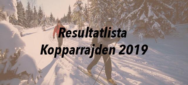 Resultatlista Kopparrajden 2019